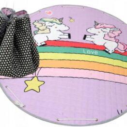 XXL mat for toys- unicorns