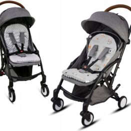 Buggy/car seat insert- grey foxes