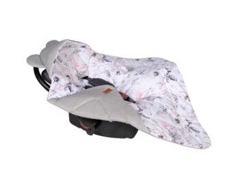 Car seat blanket/swaddle wrap- grey roses