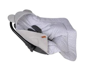 Car seat blanket/swaddle wrap- grey flowers
