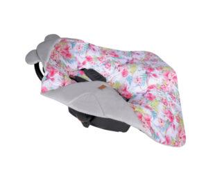 Car seat blanket/swaddle wrap- grey paradise