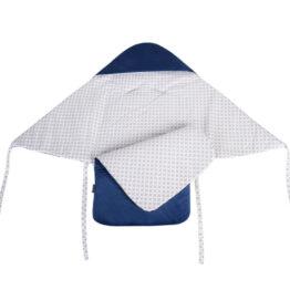 Car seat blanket/sleeping bag- navy checked