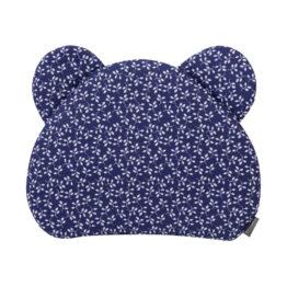 Premium teddy pillow- navy flowers