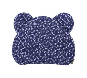 Premium teddy pillow- navy flowers