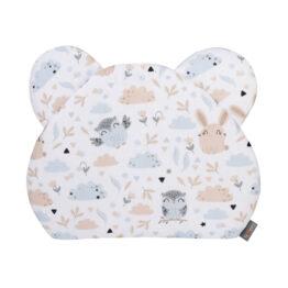 Premium teddy pillow- beige animals