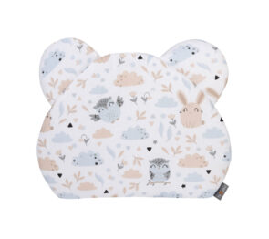 Premium teddy pillow- beige animals