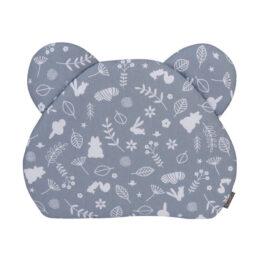 Premium teddy pillow- navy forest