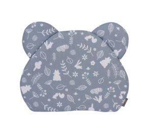 Premium teddy pillow- navy forest