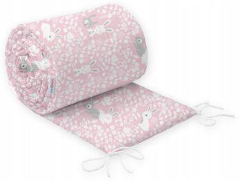Cot bed bumper 190x30cm- pink bunnies