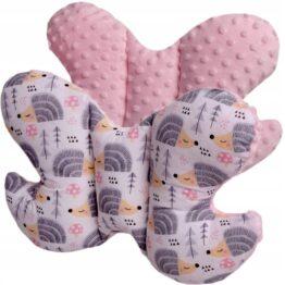 Butterfly pillow- pink hedgehogs