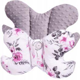 Butterfly pillow- grey dream catchers