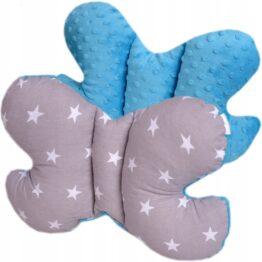 Butterfly pillow- blue stars