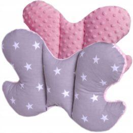 Butterfly pillow- pink stars