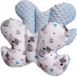 Butterfly pillow- blue teddies