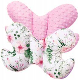 Butterfly pillow- pink flowers