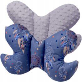 Butterfly pillow- navy dream catchers
