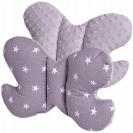 Butterfly pillow- grey stars