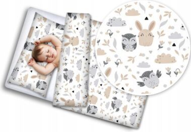 Toddler Bedding Set- beige animals