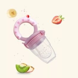 Baby fruit pacifier- baby pink