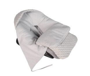 Car seat blanket/sleeping bag- grey dots