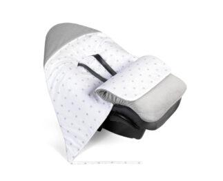 Car seat blanket/sleeping bag- grey stars