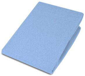 Jersey Cot bed sheet/blue