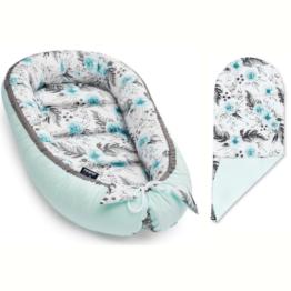 Baby Nest with insert- mint garden