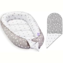 Baby Nest with insert- grey stars