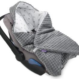 Cosy car seat blanket- grey stars