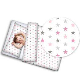 100% Cotton Bedding set- pink stars