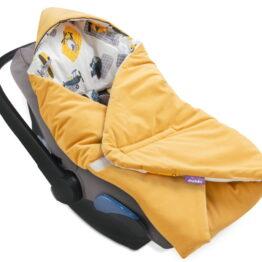 Cosy car seat blanket- velvet honey mood