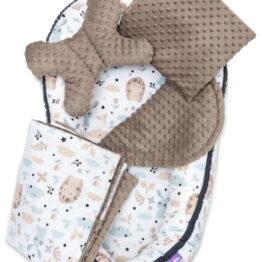 5-piece Comfort Minky Nest Set- Mokka teddies