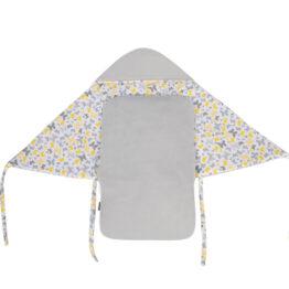 Car seat blanket/sleeping bag- grey/yellow butterflies