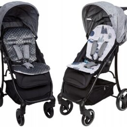 Buggy/car seat insert- dark grey/cars