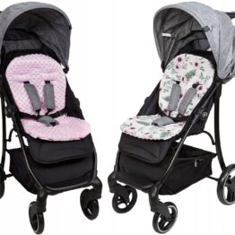 Buggy/car seat insert-pink flowers