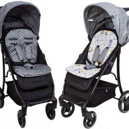 Buggy/car seat insert- dark grey/teddy friends
