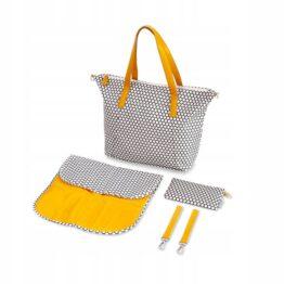 """Lady Mum"" changing bag Canpol- beige/yellow"