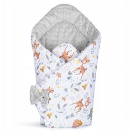 3in1 Baby Swaddle Wrap- grey deer