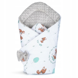 3in1 Baby Swaddle Wrap- grey fawn