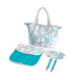 """Lady Mum"" changing bag Canpol- beige/turquoise"