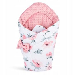 3in1 Baby Swaddle Wrap- powder pink flowers